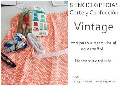 8 Enciclopedias vintage costura paso a paso visual