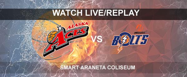 List of Replay Videos Meralco vs Alaska September 15, 2017 @ Smart Araneta Coliseum