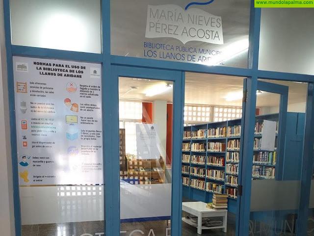 Los Llanos de Aridane reabre la Biblioteca Municipal el lunes 25 con cita previa