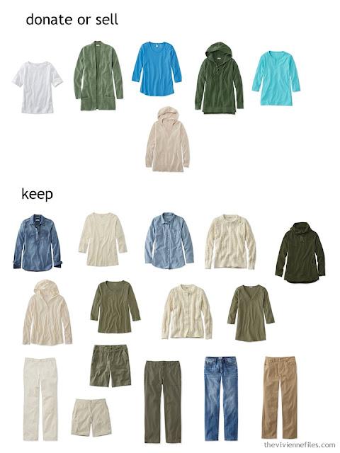 wardrobe triage for a casual wardrobe