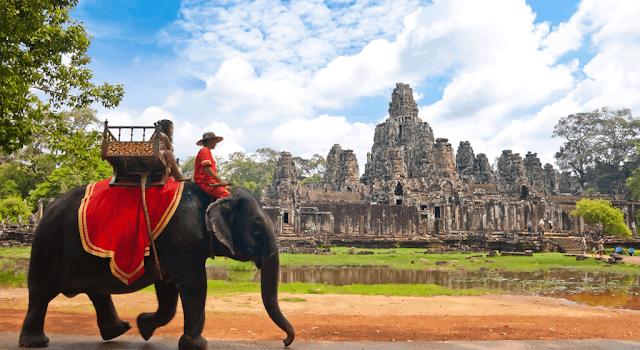 Cambodia Elephant Ride