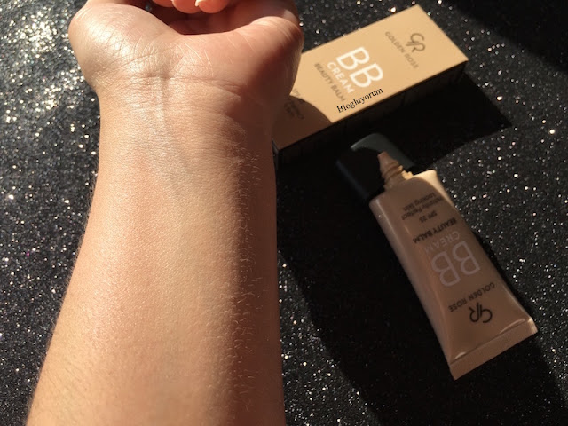 golden rose bb cream beauty balm spf25 bb krem swatch2