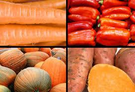 Buah dan sayur warna orange
