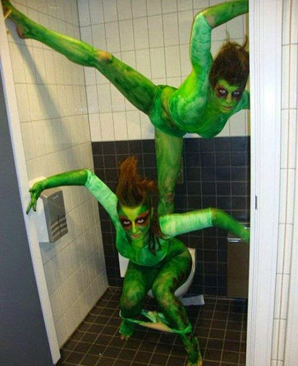 Unknown WTF Green Ladies Halloween Costumes