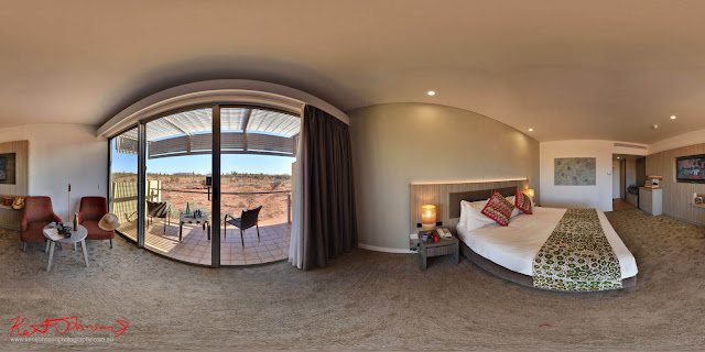 Desert Gardens Hotel Room, Uluru N.T. - photographed for a Hi-Fidelity 360° Virtual Tour by Kent Johnson Photography.