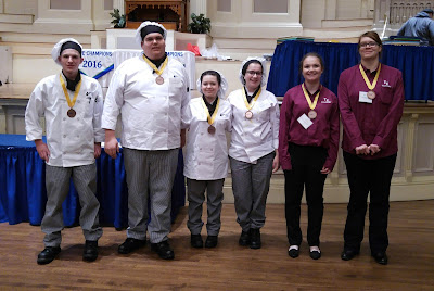 Six students from Tri-County's Culinary Arts program received bronze medals at the 2016 Massachusetts ProStart Invitational