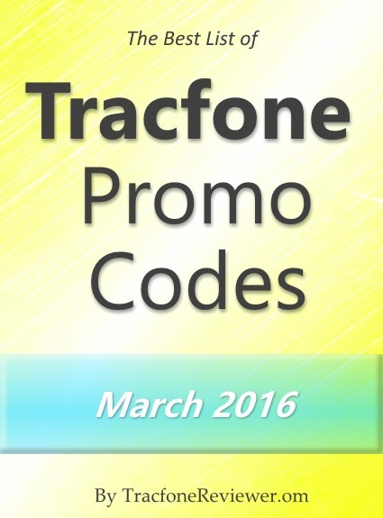 Tracfone Promo Codes for March 2016
