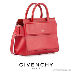 Queen Rania carried Givenchy Horizon Mini Leather Satchel Bag