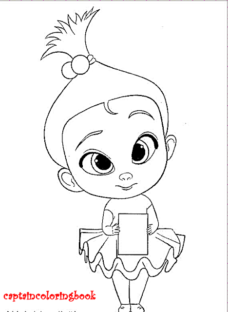 The Boss Baby coloring page free