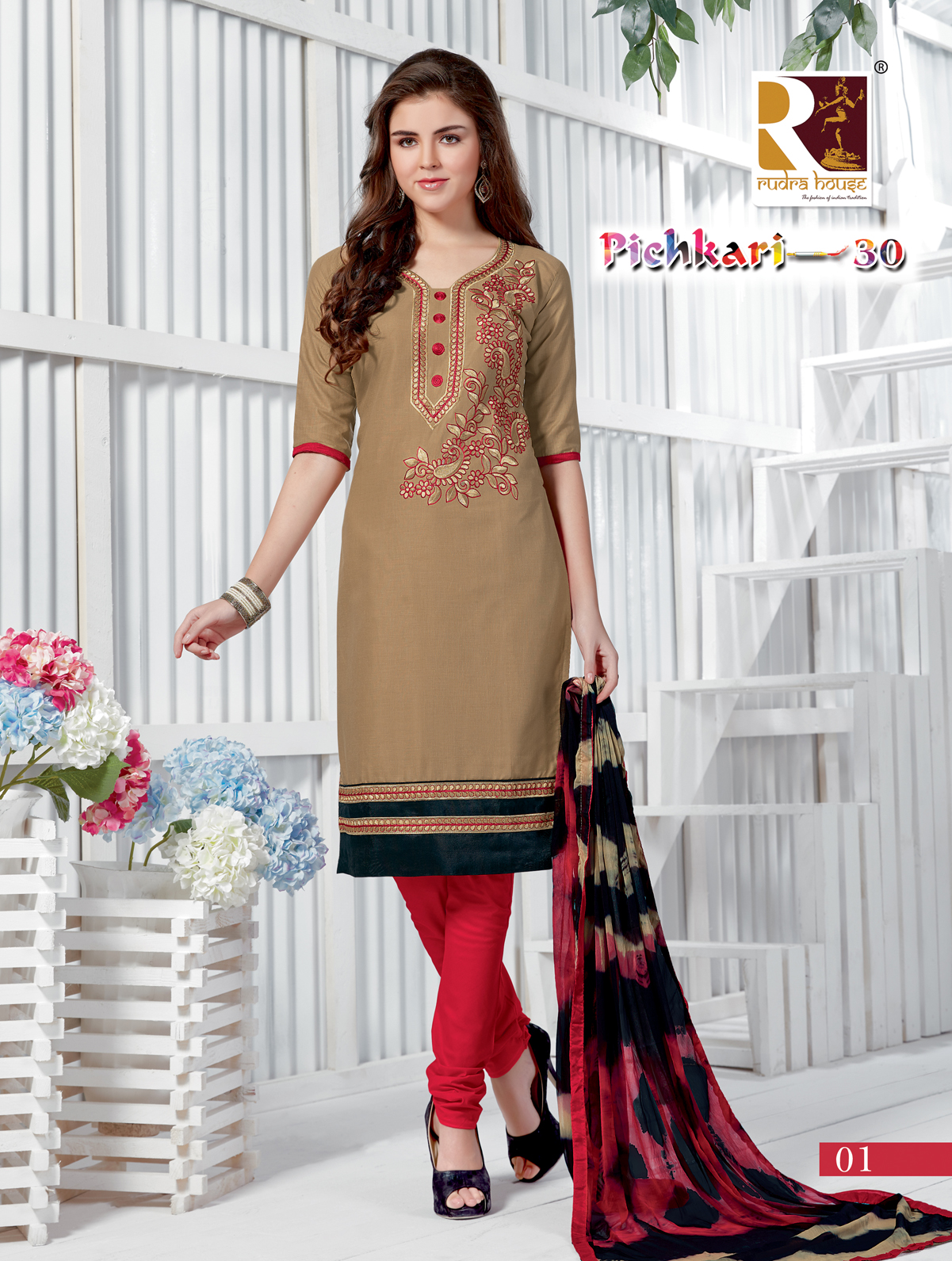 Pichkari 30 – Churidar Cotton Embroidery Dress Material