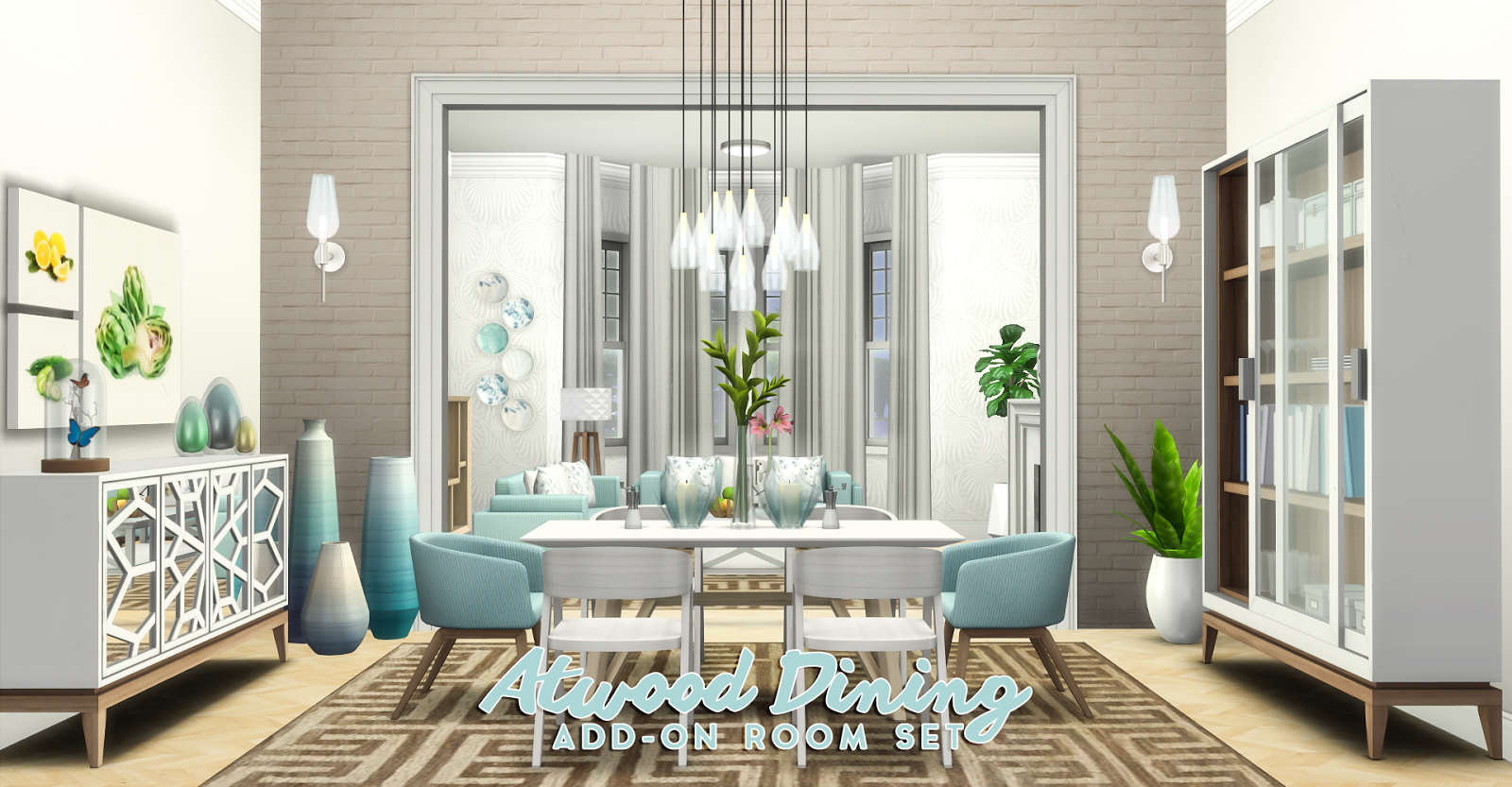Peace Room Decor Simsational Designs Atwood Dining Content Collection Addon