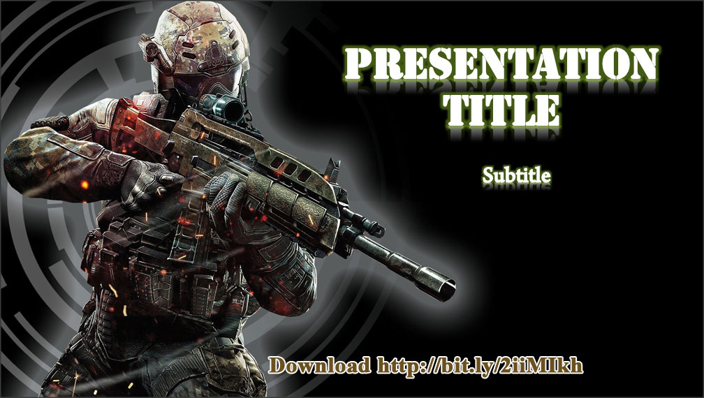 5 free military powerpoint template and background designs modern warfare military powerpoint template toneelgroepblik Image collections