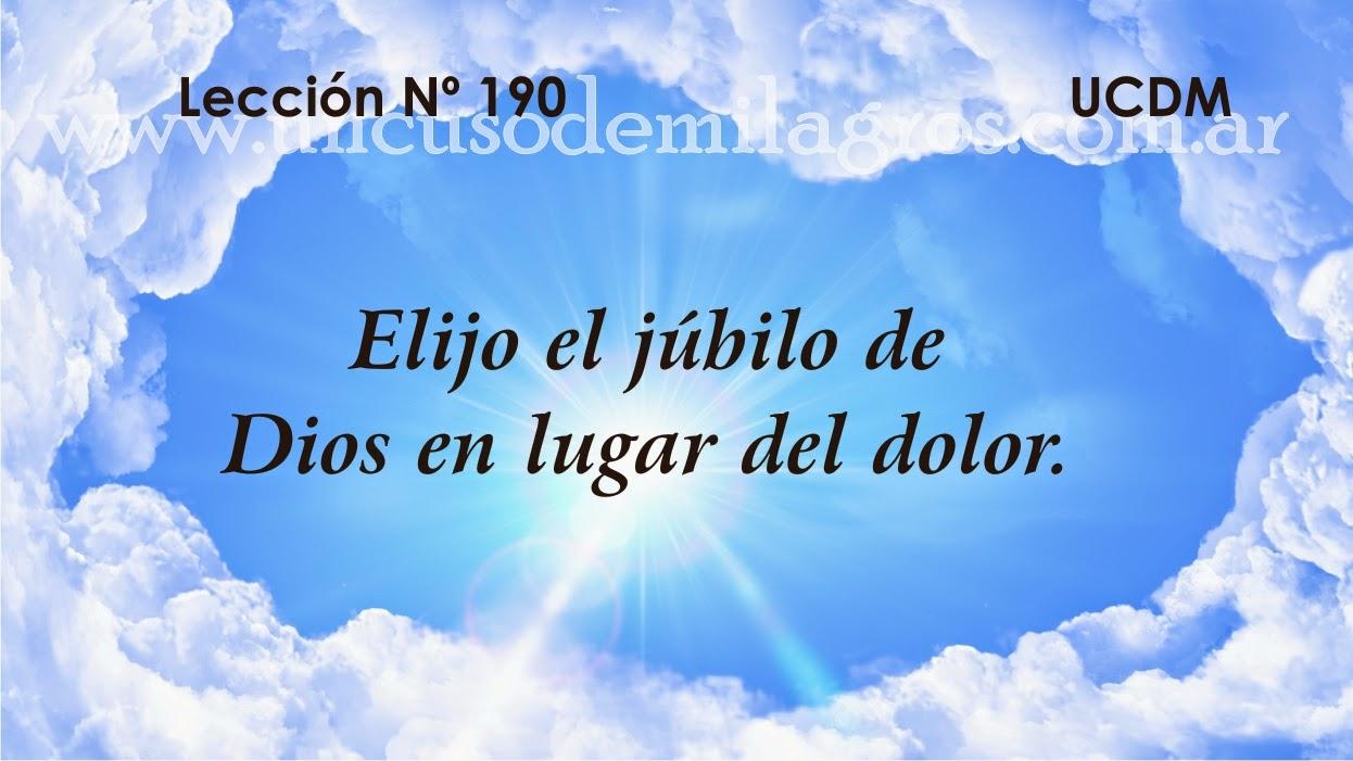 Leccion 190, Un Curso de Milagros
