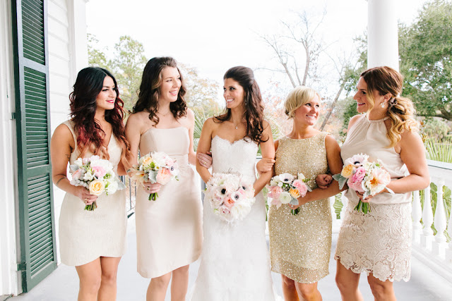 shabby+chic+wedding+spring+summer+pastel+champagne+pink+black+white+bride+groom+bouquet+ceremony+centerpiece+floral+flower+bridesmaid+dresses+dress+riverland+studios+1 - Charleston Pastel