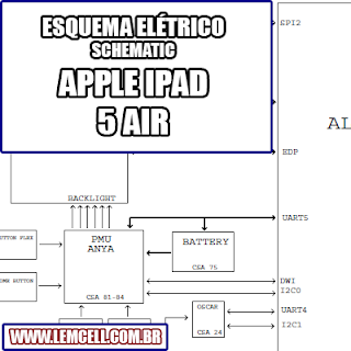 Esquema Elétrico Smartphone IApple Ipad 5 Air Celular Manual de Serviço   Service Manual schematic Diagram Cell Phone Smartphone Celular Apple Ipad 5 Air      Esquematico Smartphone Celular Apple Ipad 5 Air