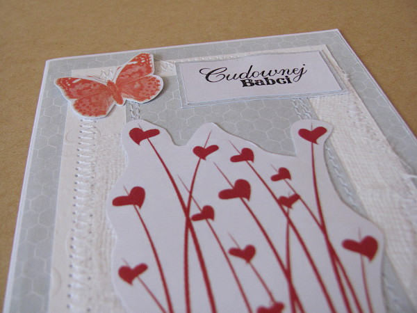 handmade kartka dla babci
