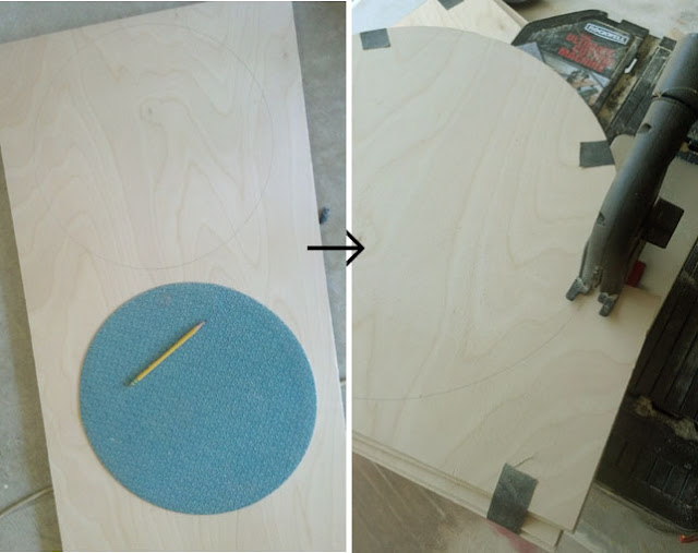 how to cut out a circle shape out of wood with a Rockwell BladeRunner