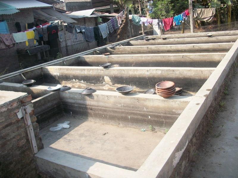 membuat kolam beton