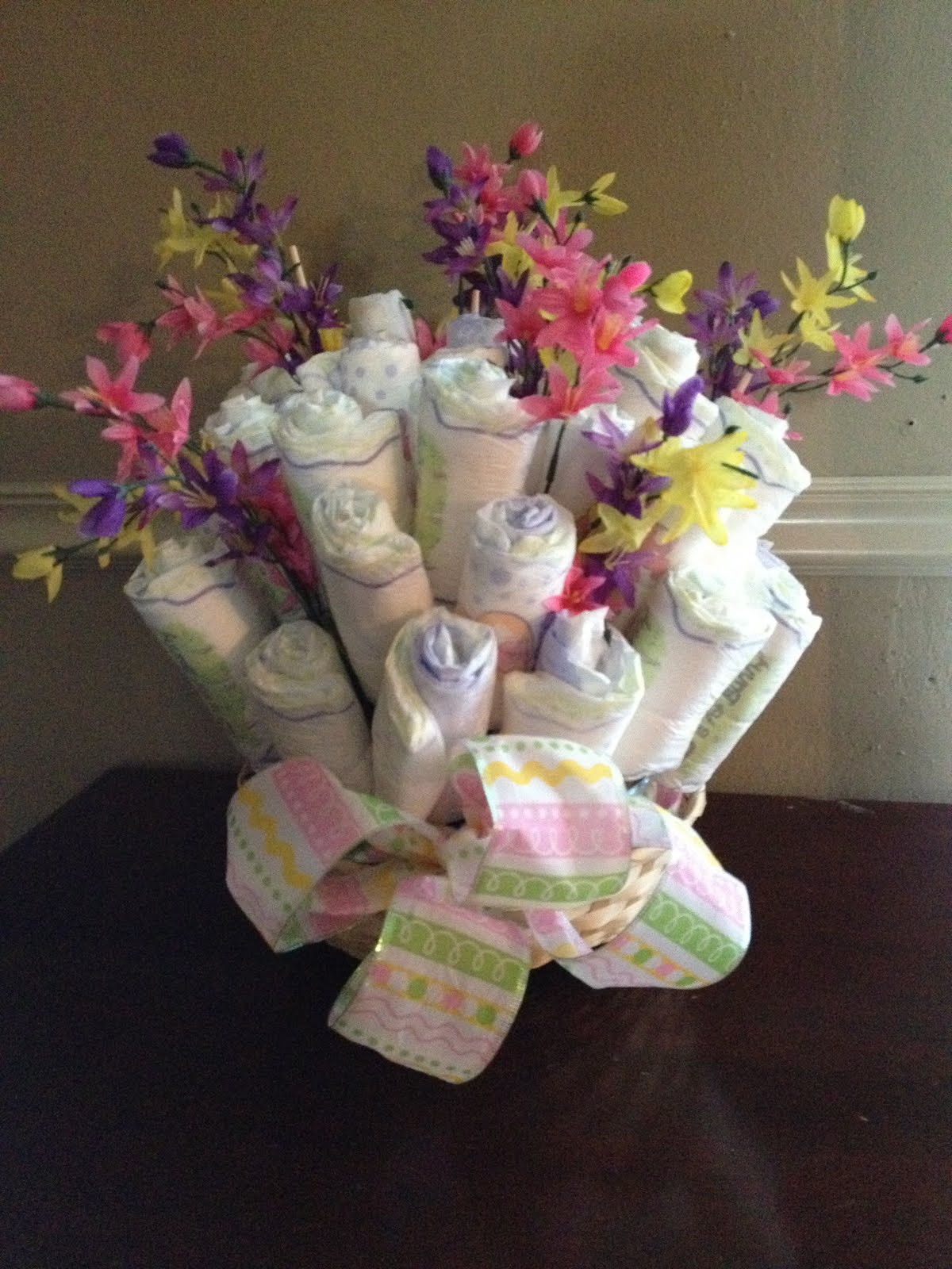 Yes It S Homemade Diaper Bouquet