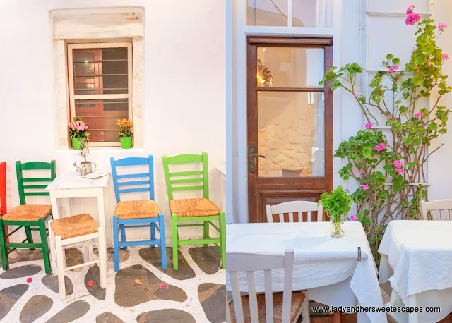 two of the lovely restaurants we found in Mykonos