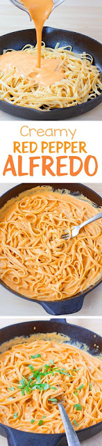 Creamy Red Pepper Alfredo Pasta