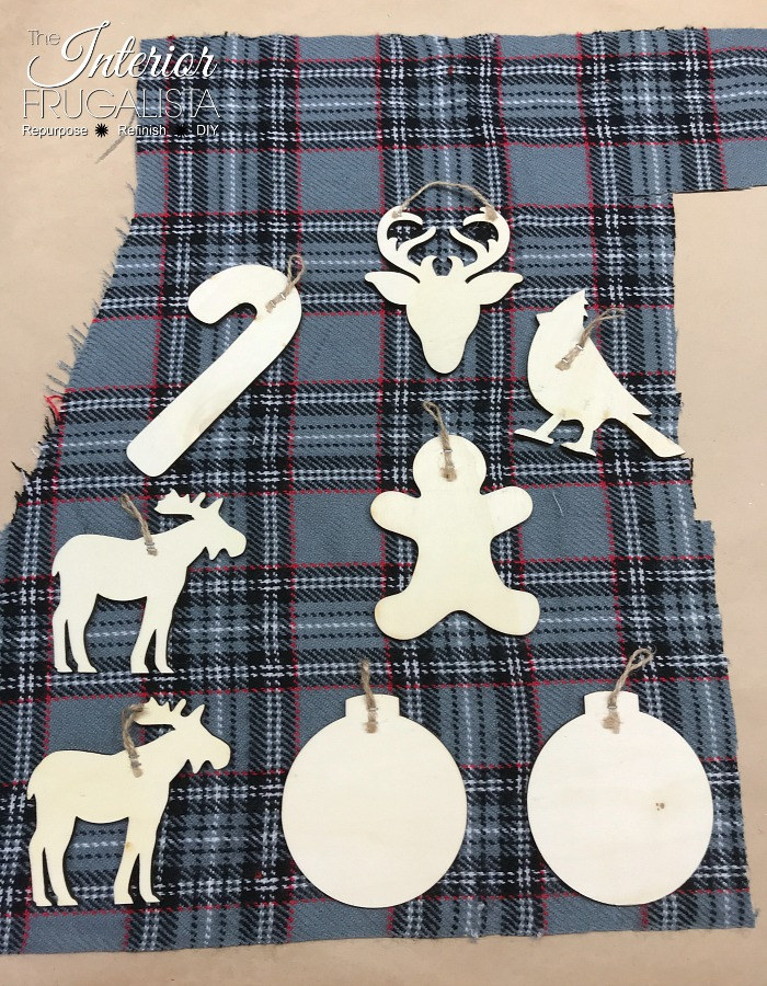 Eco Friendly DIY Holiday Gift Tags Salvaged Plaid Fabric