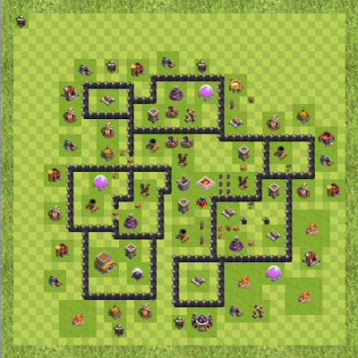 War Base Town Hall Level 8 By acmilanfc (H TH 8 Layout)