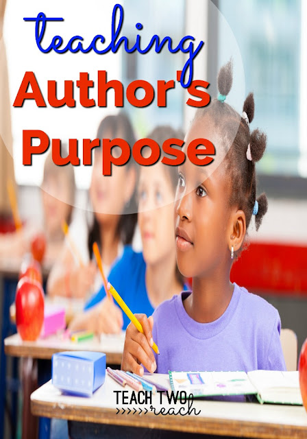 learn how to teach student's different ways of remembering author's purpose - persuade, inform, entertain. Freebie included.