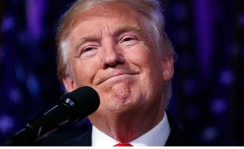 Donald Trump Presiden Terpilih Amerika Serikat.  Photo courtesy CNN COM