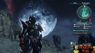 Character from Xenoblade Chronicles X in full heavy armor.