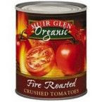 a picture of a can of Muir Glen Organic Fire Roasted  Tomatoes