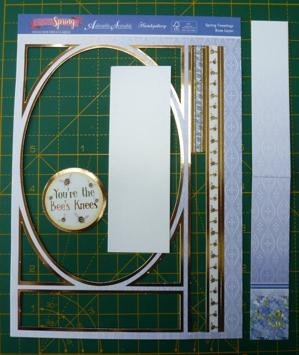Leftover pieces from the Hunkydory Deco Large card making kit