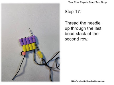 Click the image to view the Two Row or Peyote Start beading tutorial image larger.