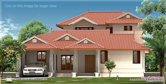 2528 sq-ft villa design