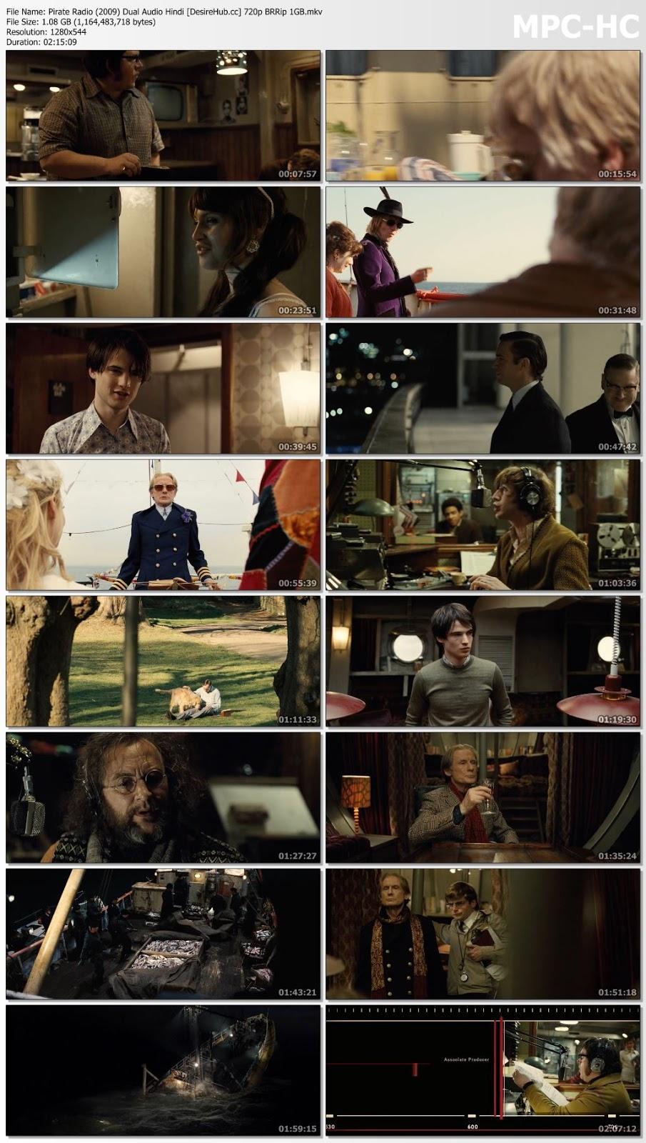 Pirate Radio 2009 Dual Audio Hindi 480p BluRay 400MB Desirehub