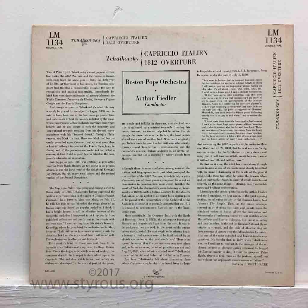 The Styrous® Viewfinder: 20,000 Vinyl LPs 114: Pyotr Ilyich
