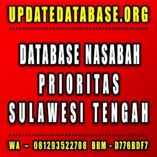 Jual Database Nasabah Prioritas Sulawesi Tengah