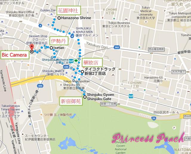 新宿玩樂地圖