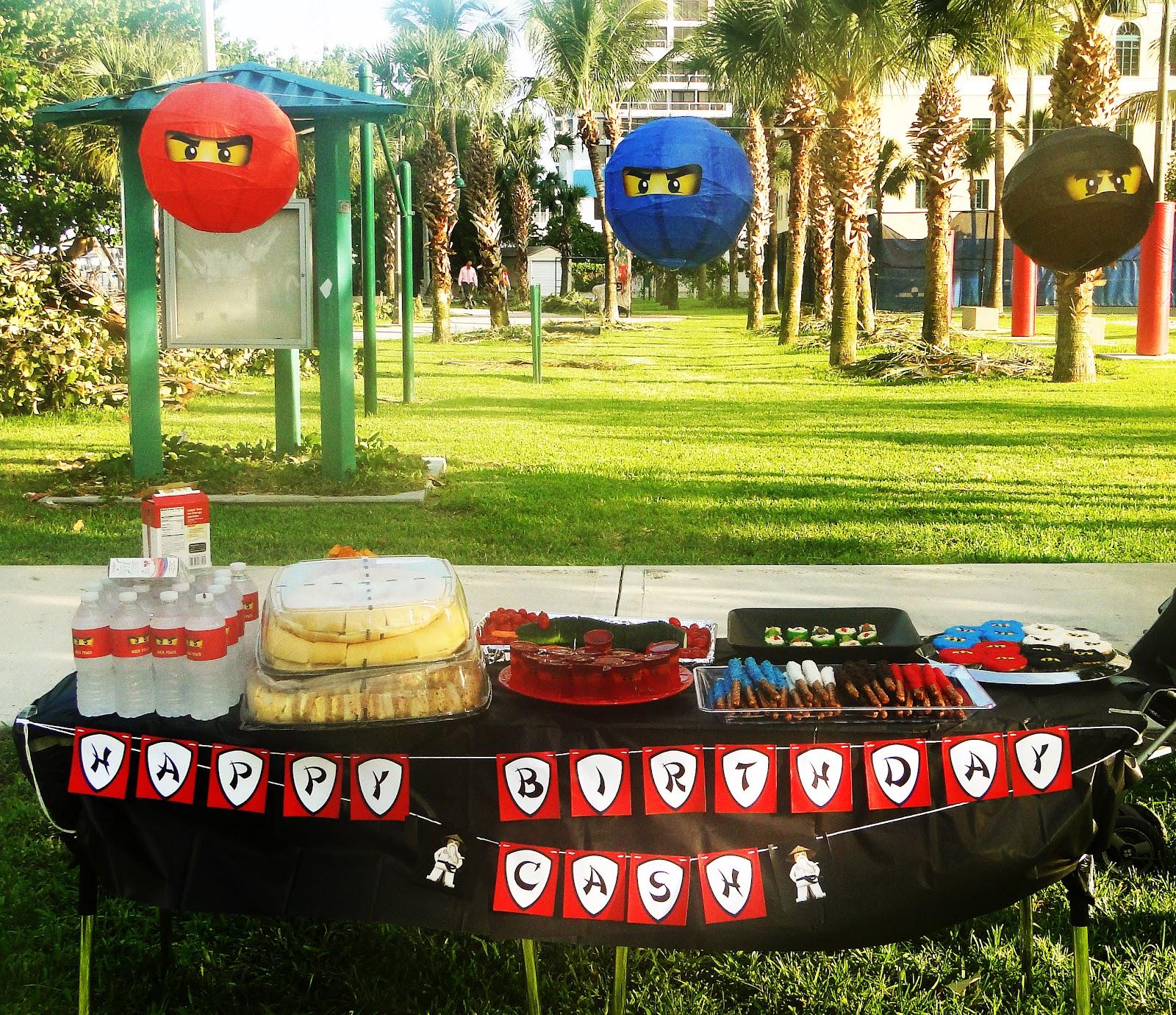 A Lego Ninjago Birthday Party: The Isoms: Ninjago Birthday Party