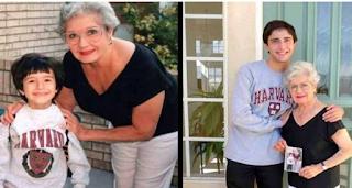 19 χρόνια μετά, βγάζει την ίδια φωτογραφία με τη γιαγιά του. Όταν όμως την κοίταξε καλύτερα, συνειδητοποίησε αυτό