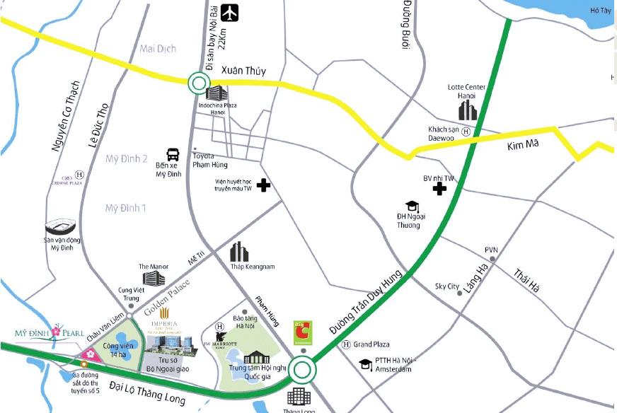 Vị trí đắc địa của dự án Imperia Eden Park Mễ Trì