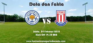 Data dan Fakta Fantasy Premiers League GW 28 Leicester vs Stoke Fantasi Manager Indonesia