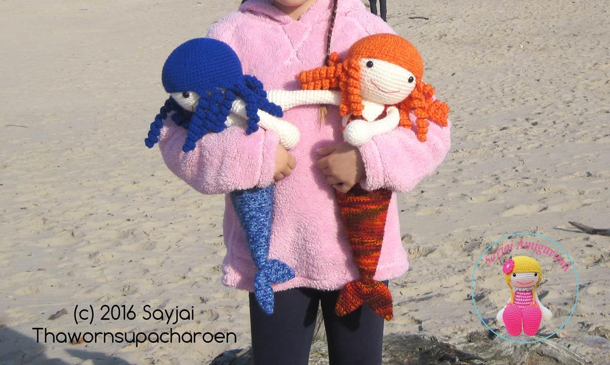 Amigurumi Doll Book : Huggy mermaids from the huggy dolls book sayjai amigurumi