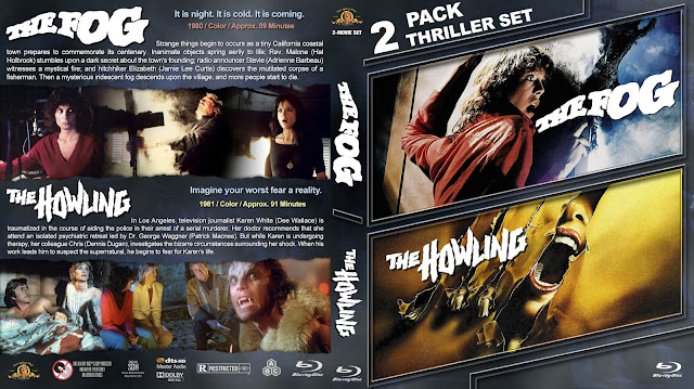 The Fog / The Howling Double Feature Bluray Cover