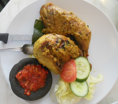 Java Indonesian Restaurant, Randwick, grilled chicken