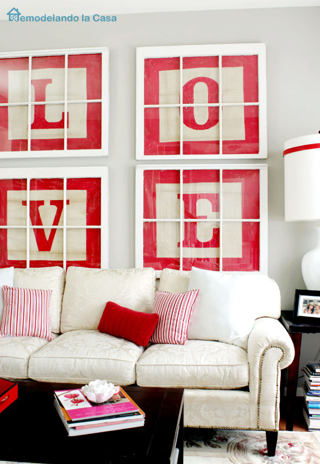 how to make big letter wall art