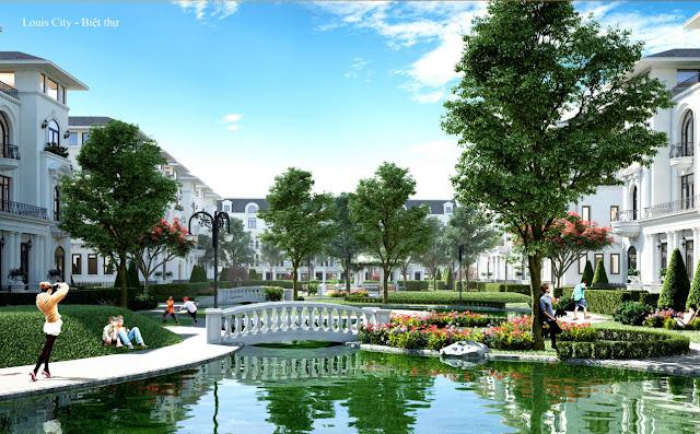 Cảnh quan biệt thự Louis City Tân Mai