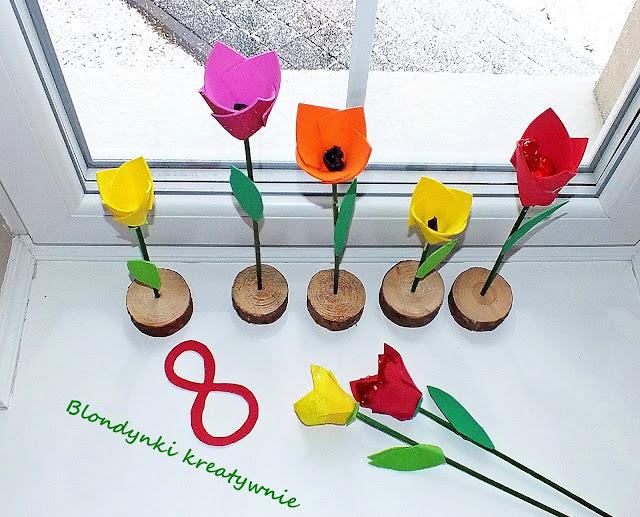 Kwiaty DIY inspiracje na prace z dziećmi.