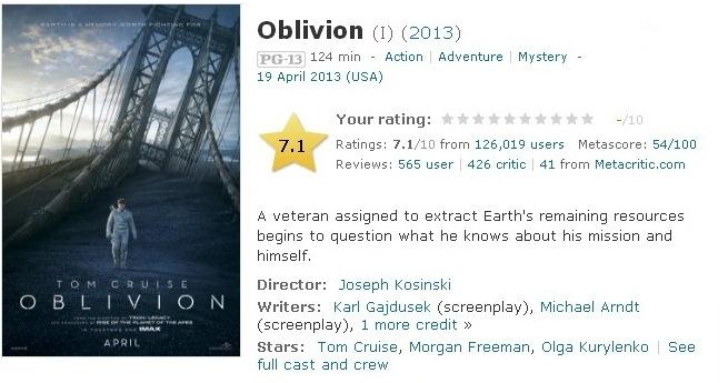 oblivion 2013 torrent hindi