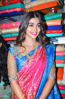 Puja Hegde looks stunning in Red saree at launch of Anutex shopping mall ~ Celebrities Galleries 071.JPG